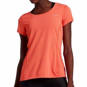 Nike DRI-FIT Contour Coral Running Tee Shirt